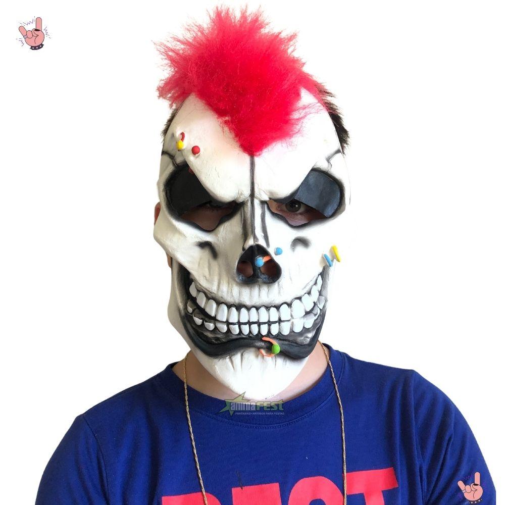 Máscara Caveira Punk Látex