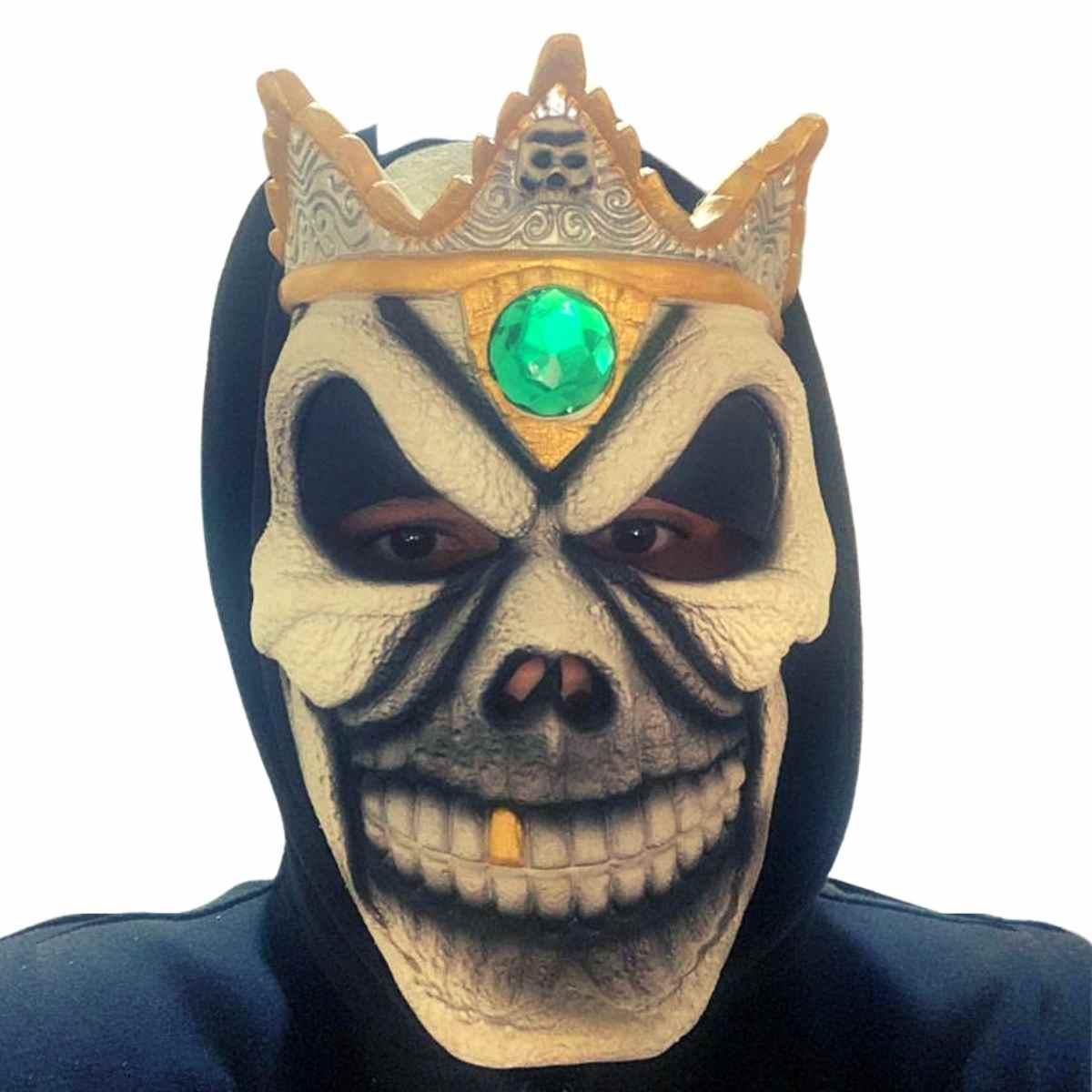 Máscara Caveira Real Latex c/ Capuz