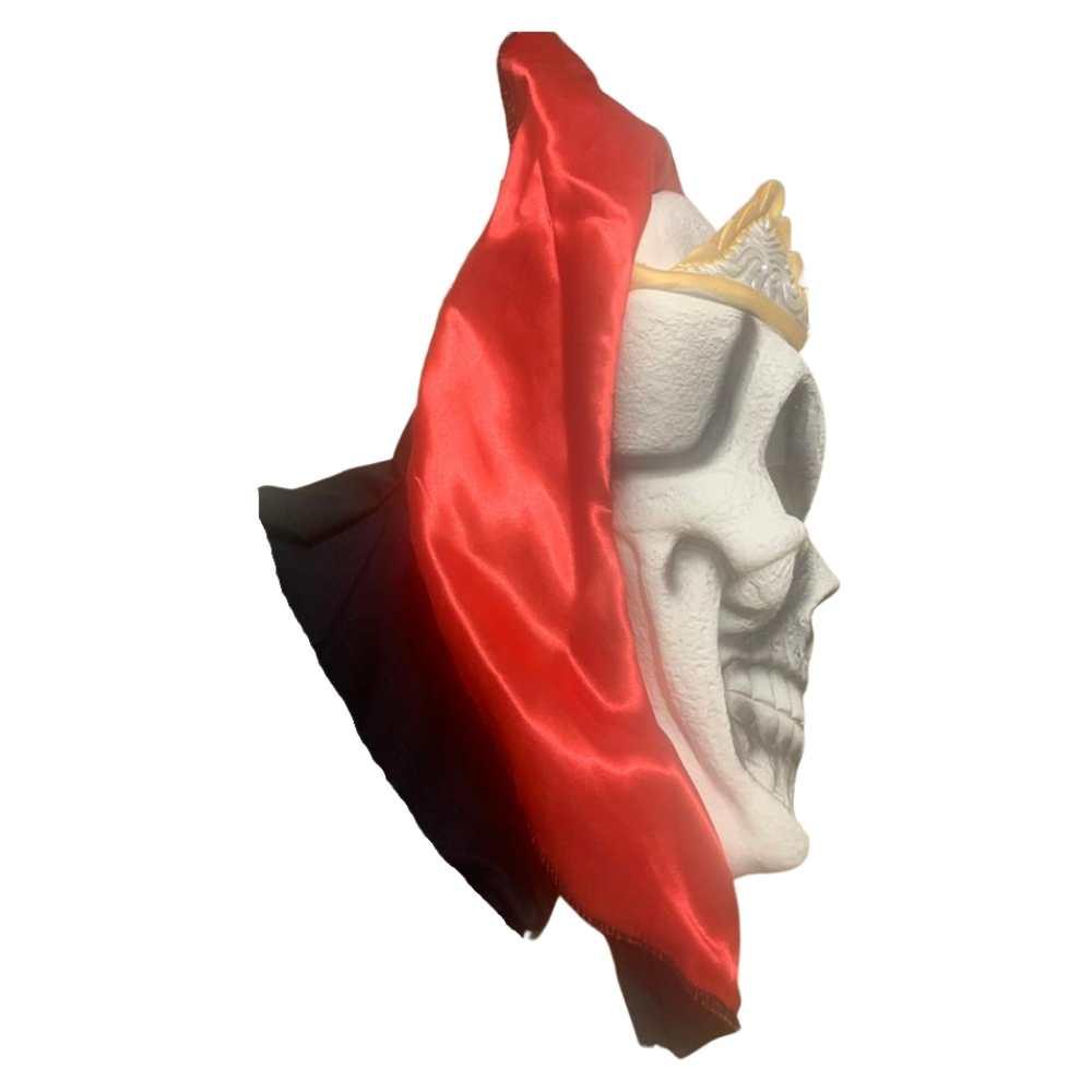 Máscara Caveira Real Luxo com Capuz Látex