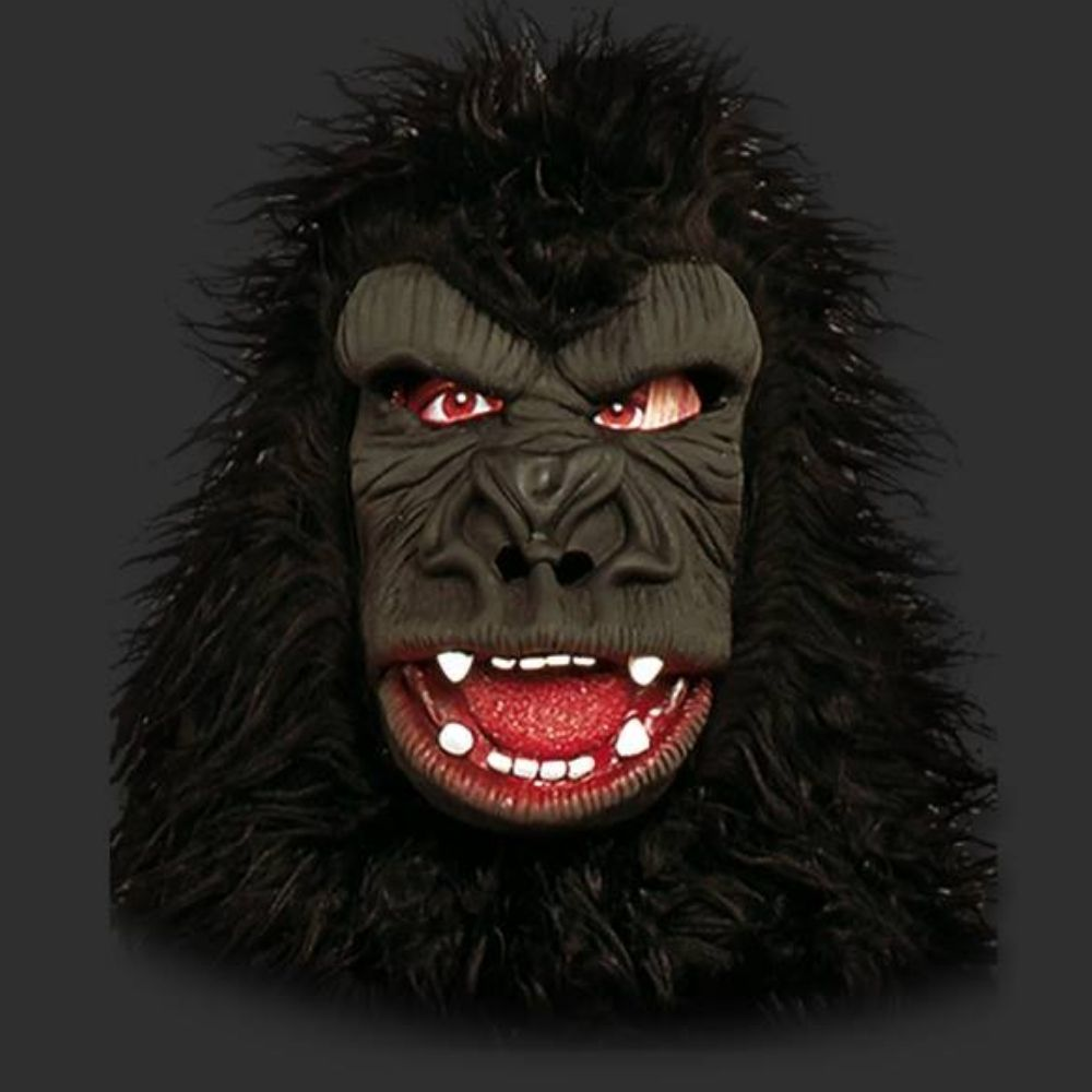 Máscara Gorila com Pelo Luxo Látex