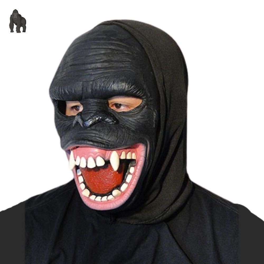 Máscara Gorila Sorridente Látex com capuz