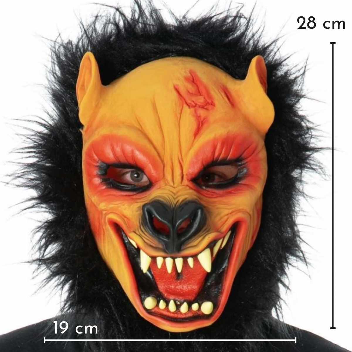 Máscara Lobisomem Látex com Pelos
