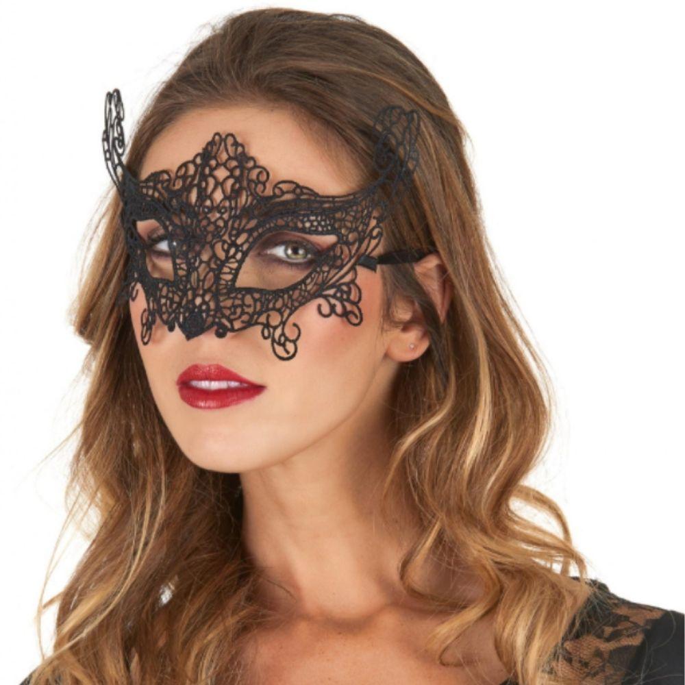 Máscara Renda Especial Preta