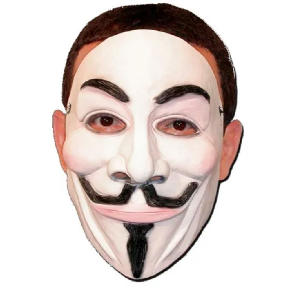 Máscara V de Vingança - Anonymous Látex