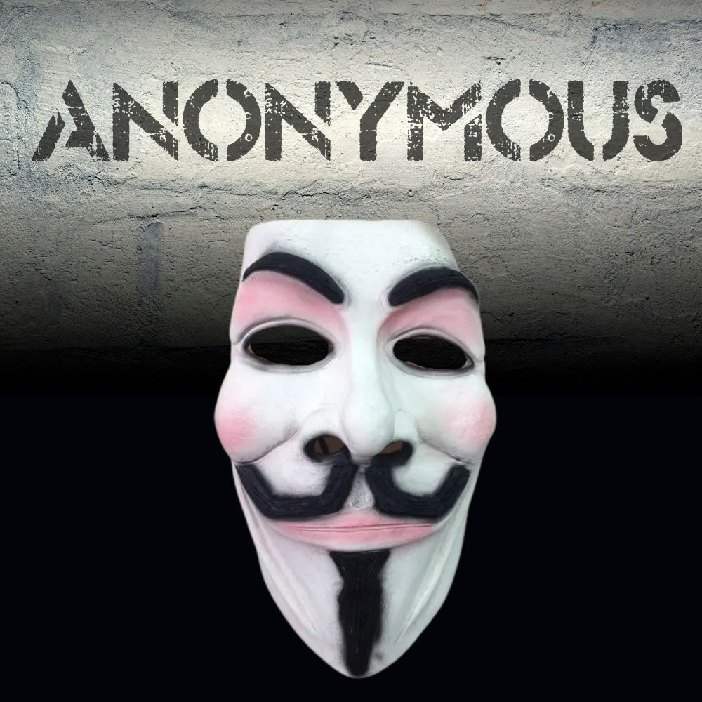 Máscara V de Vingança - Anonymous Látex