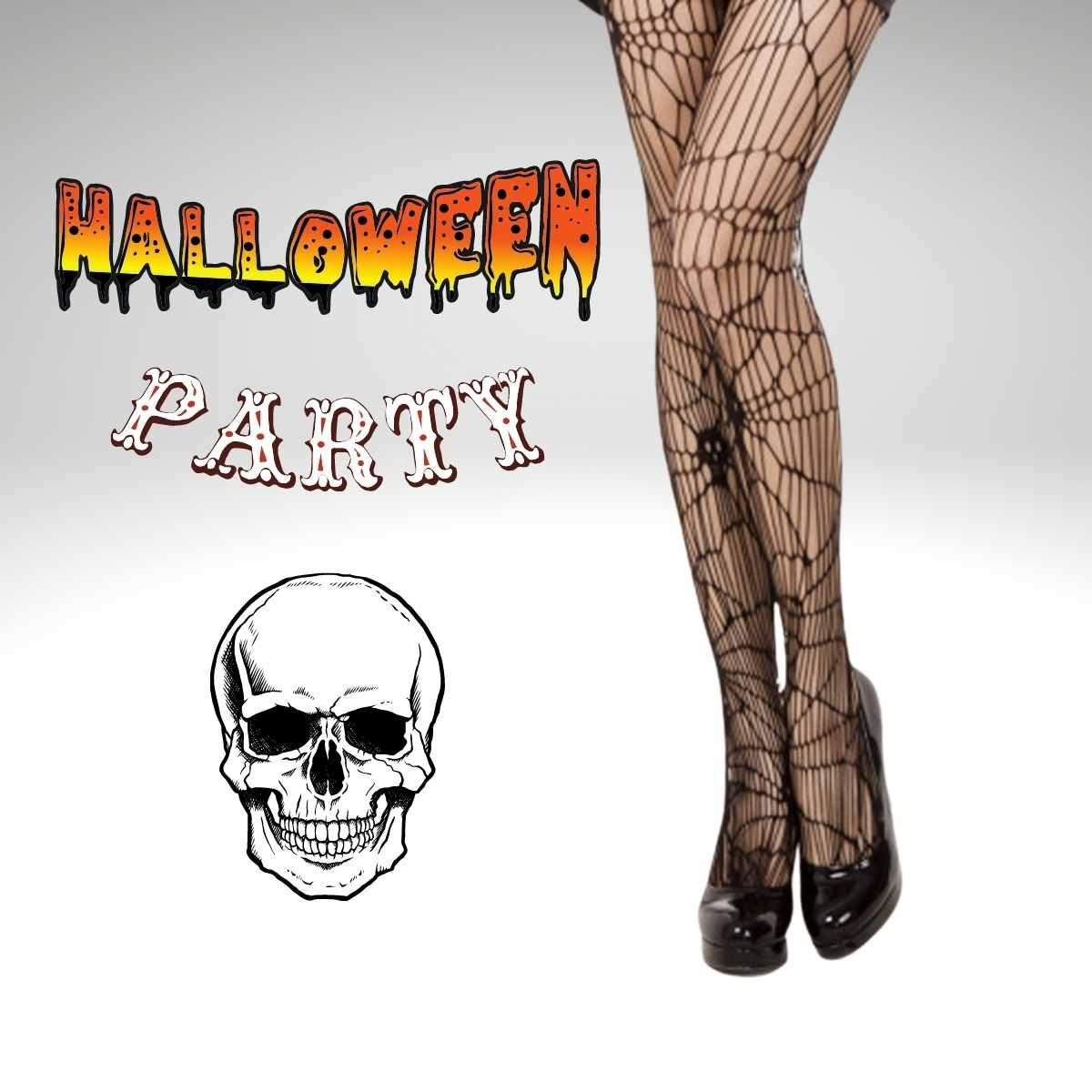 Meia Calça Arrastao Desenhos Halloween