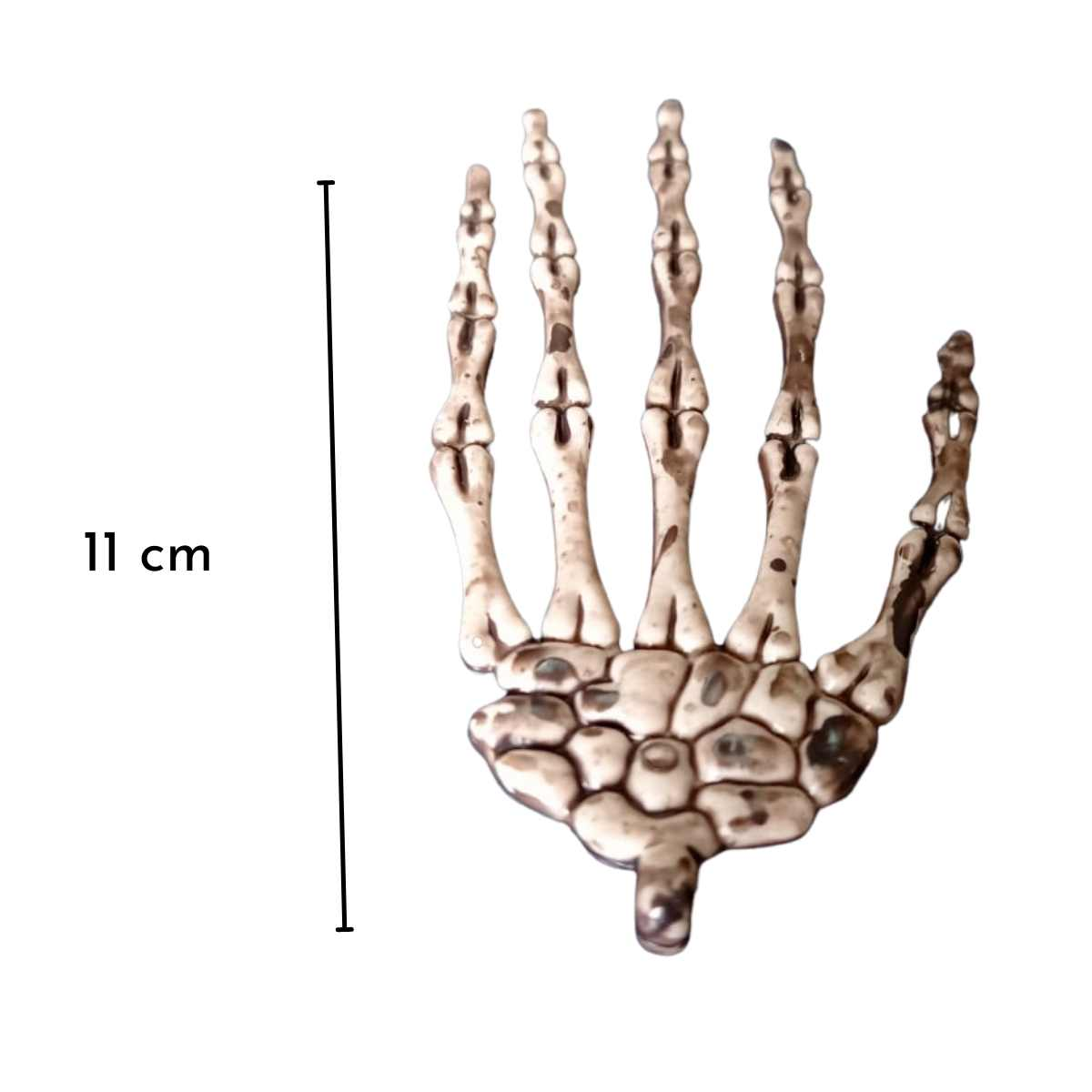 Mini Mão Esqueleto 11cm c/8 unid