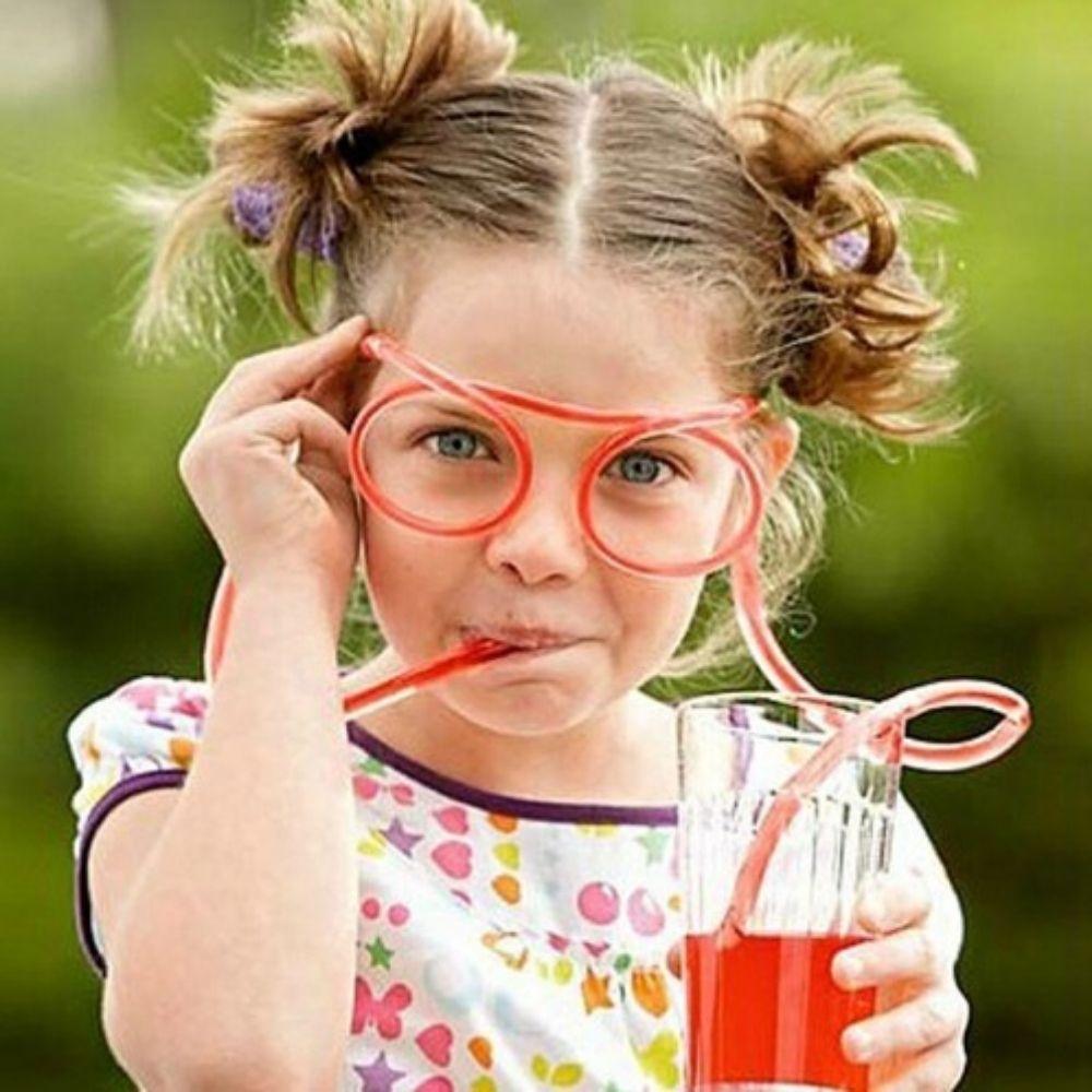 Óculos Canudo Divertido Reutilizável Chaves KIT c/2