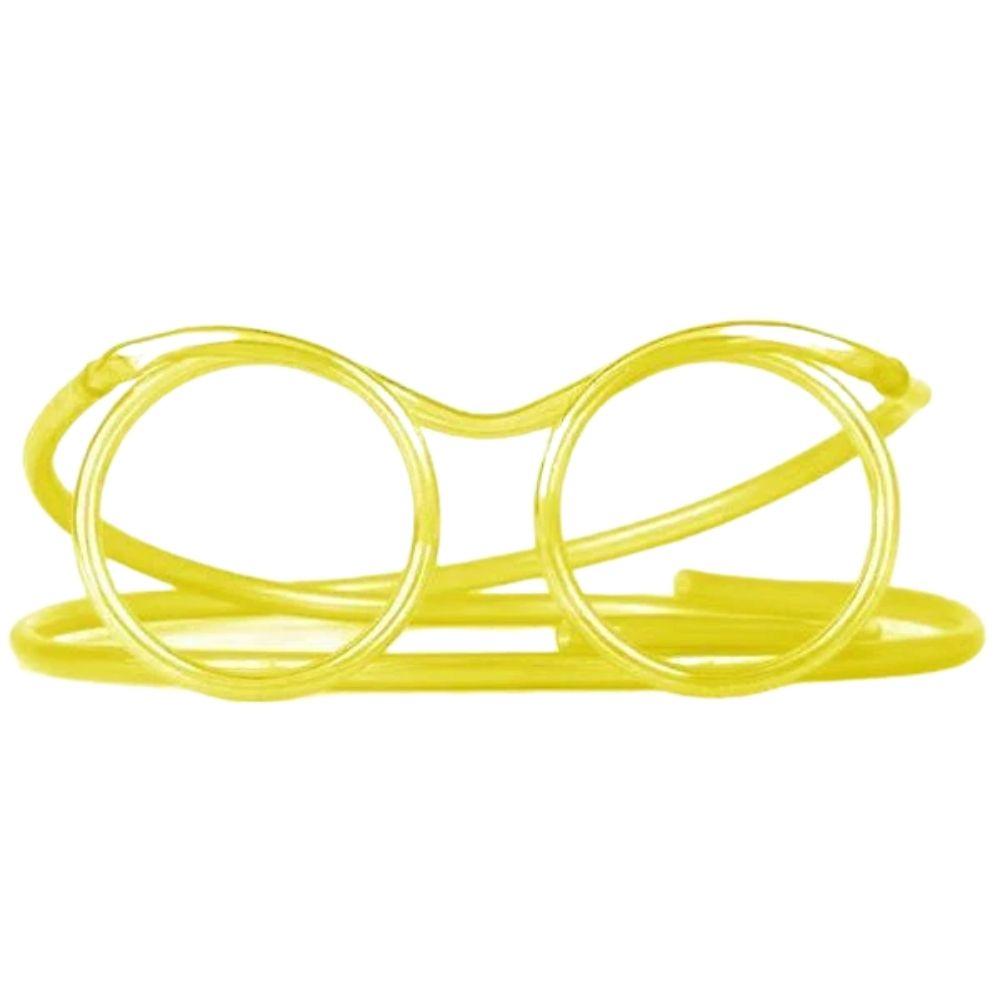 Óculos Canudo Divertido Reutilizável Chaves KIT c/3