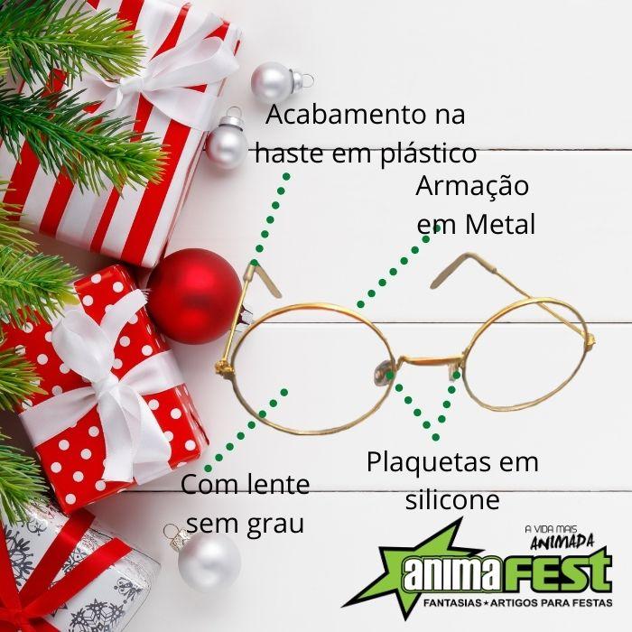 Óculos Papai Noel Redondo