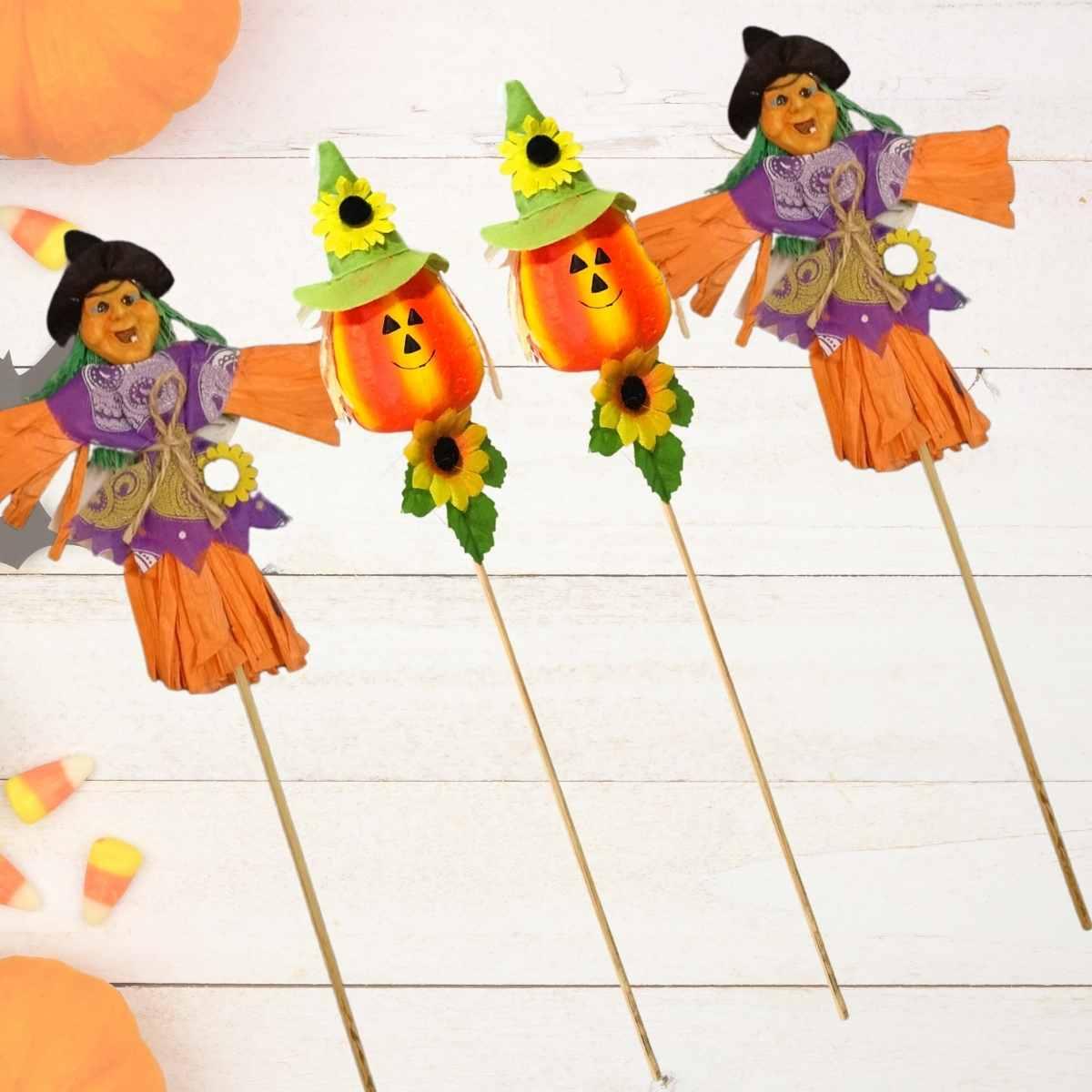 Palito Decorativo Halloween 30 cm Kit c/4