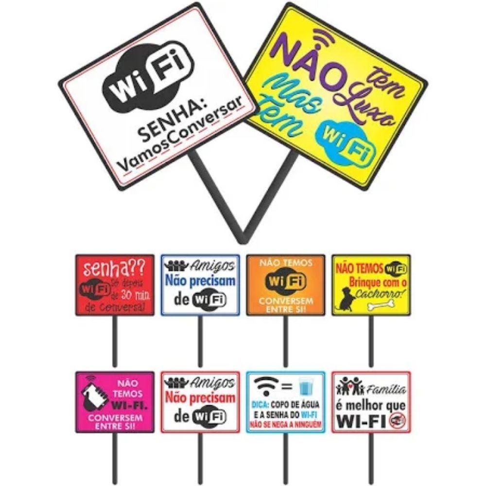 Plaquinhas Divertidas Wifi com 10