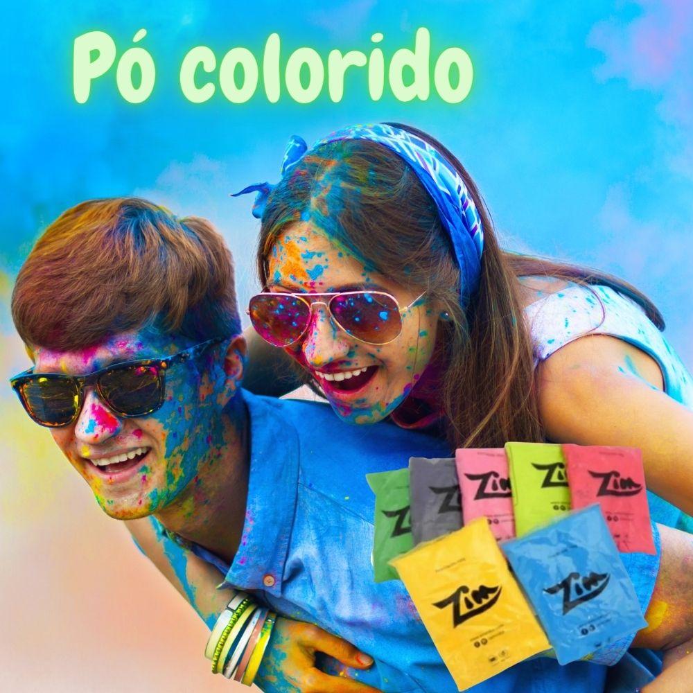 Pó Colorido Zim Color 100g c/5 cores sortidas