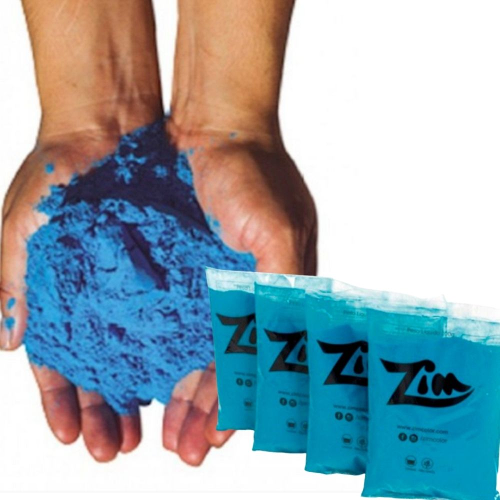 Pó Colorido Zim Color para Chá de Revelação 5 Rosa e 5 Azul