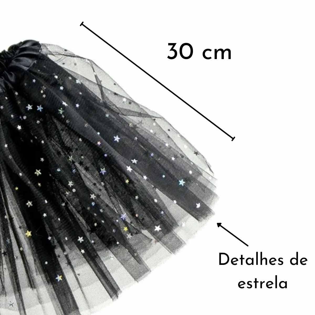 Saia de Tule Estrela Infantil 30 cm