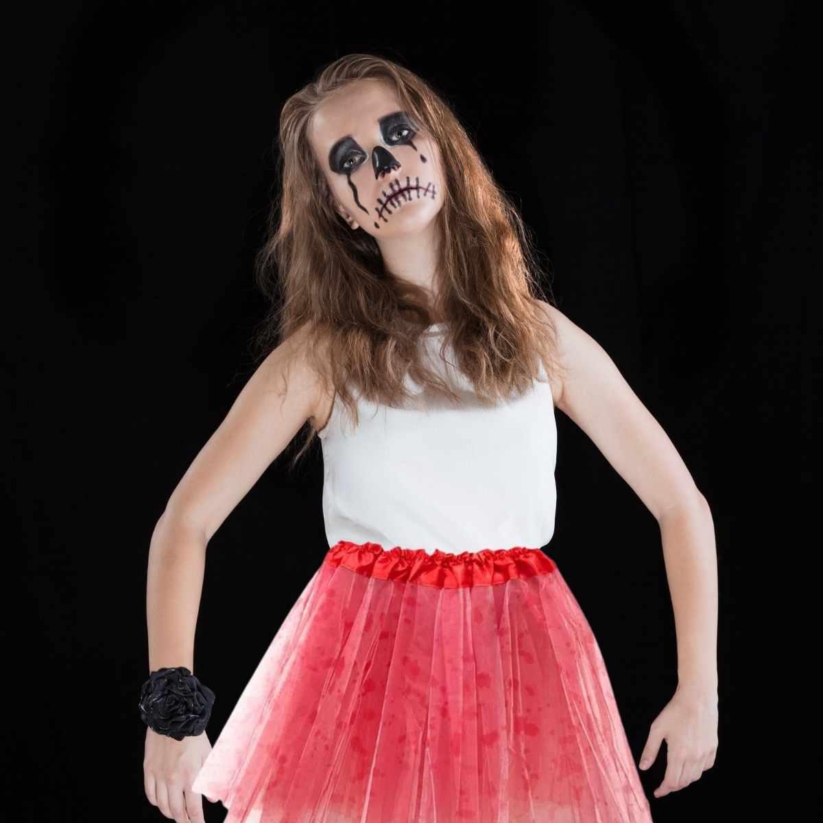 Saia de Tule Infantil Halloween 34 cm