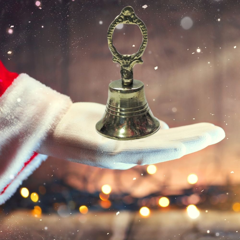 Sino de Papai Noel Dourado