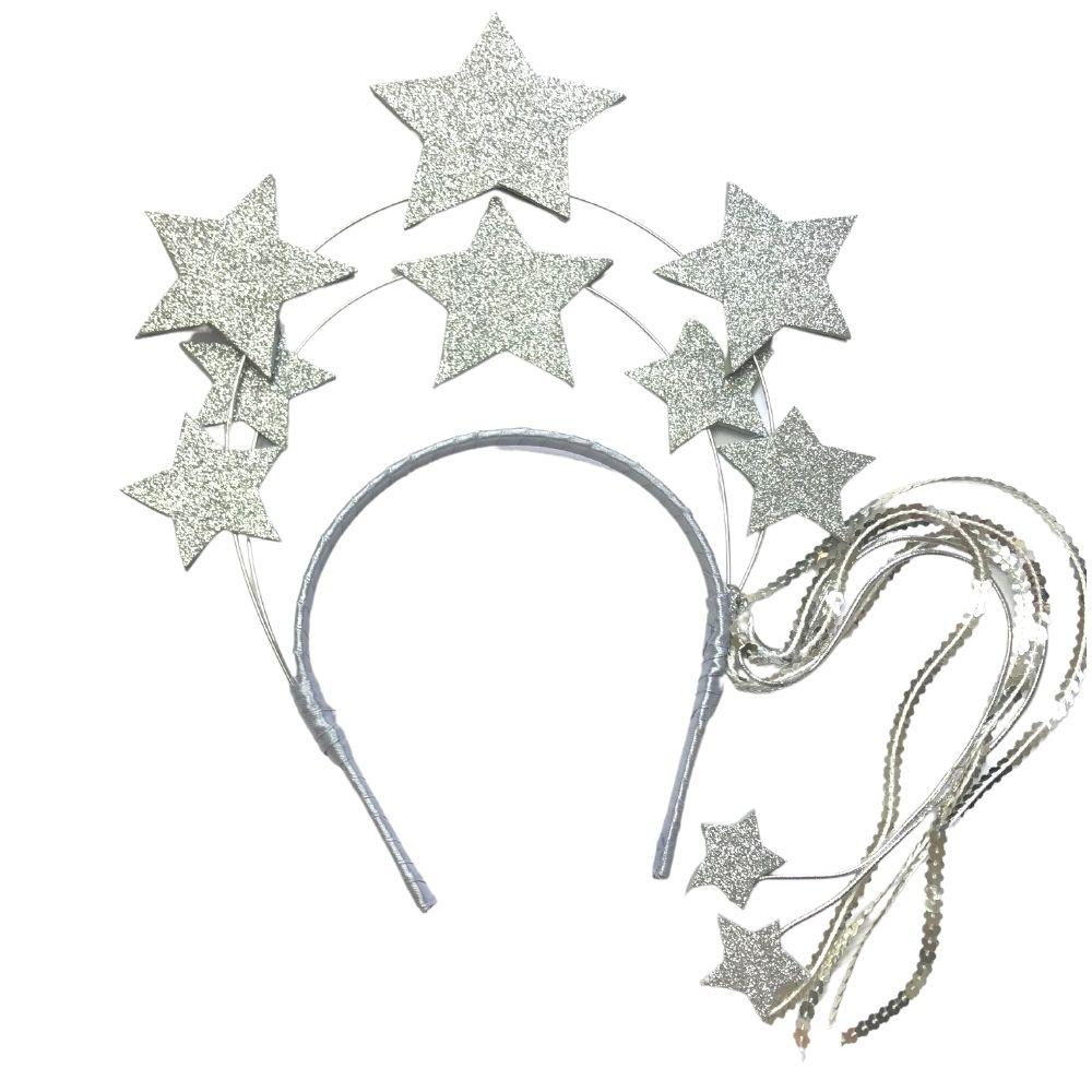 Tiara Carnaval Constelação Prata-SV