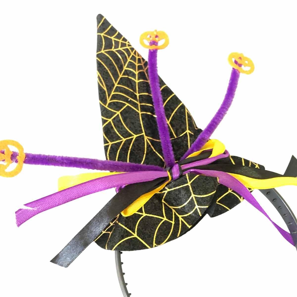 Tiara Chapéu de Bruxa Sortidos 15cm