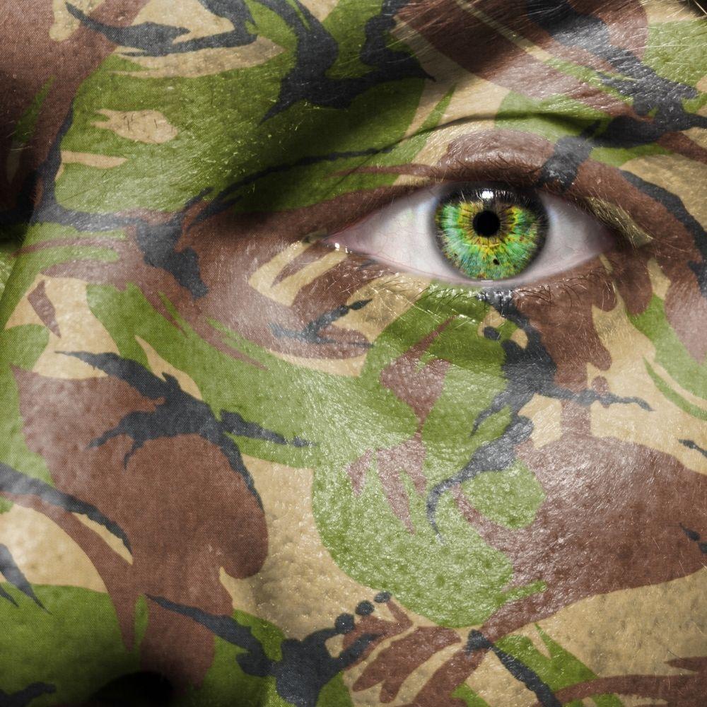 Tinta Cremosa Camuflagem 5 cores