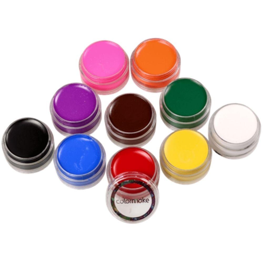 Tinta para Rosto com 10 Cores