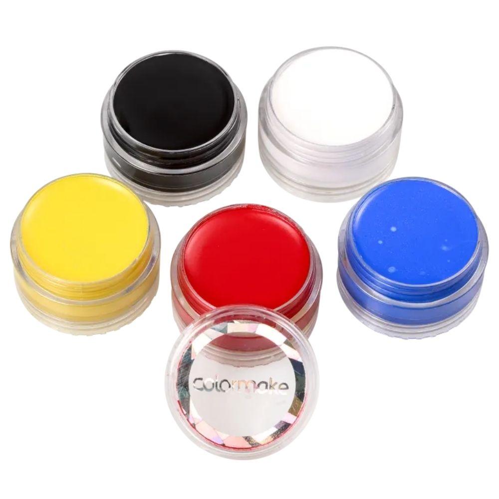 Tinta para Rosto Cremosa com 5 Cores