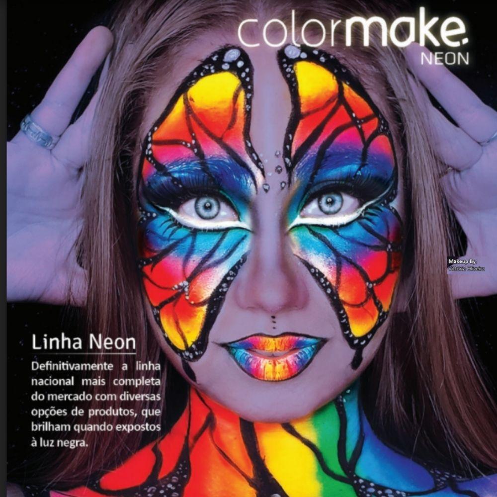 Tinta para Rosto Cremosa com 5 Cores Fluorescentes
