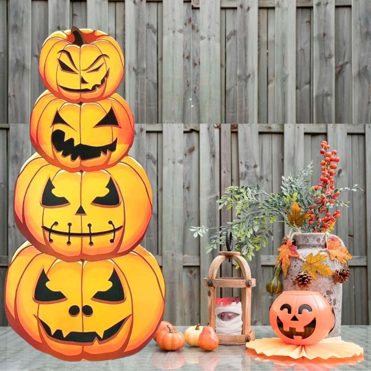 Totem Halloween Abóbora 1,46mx70cm
