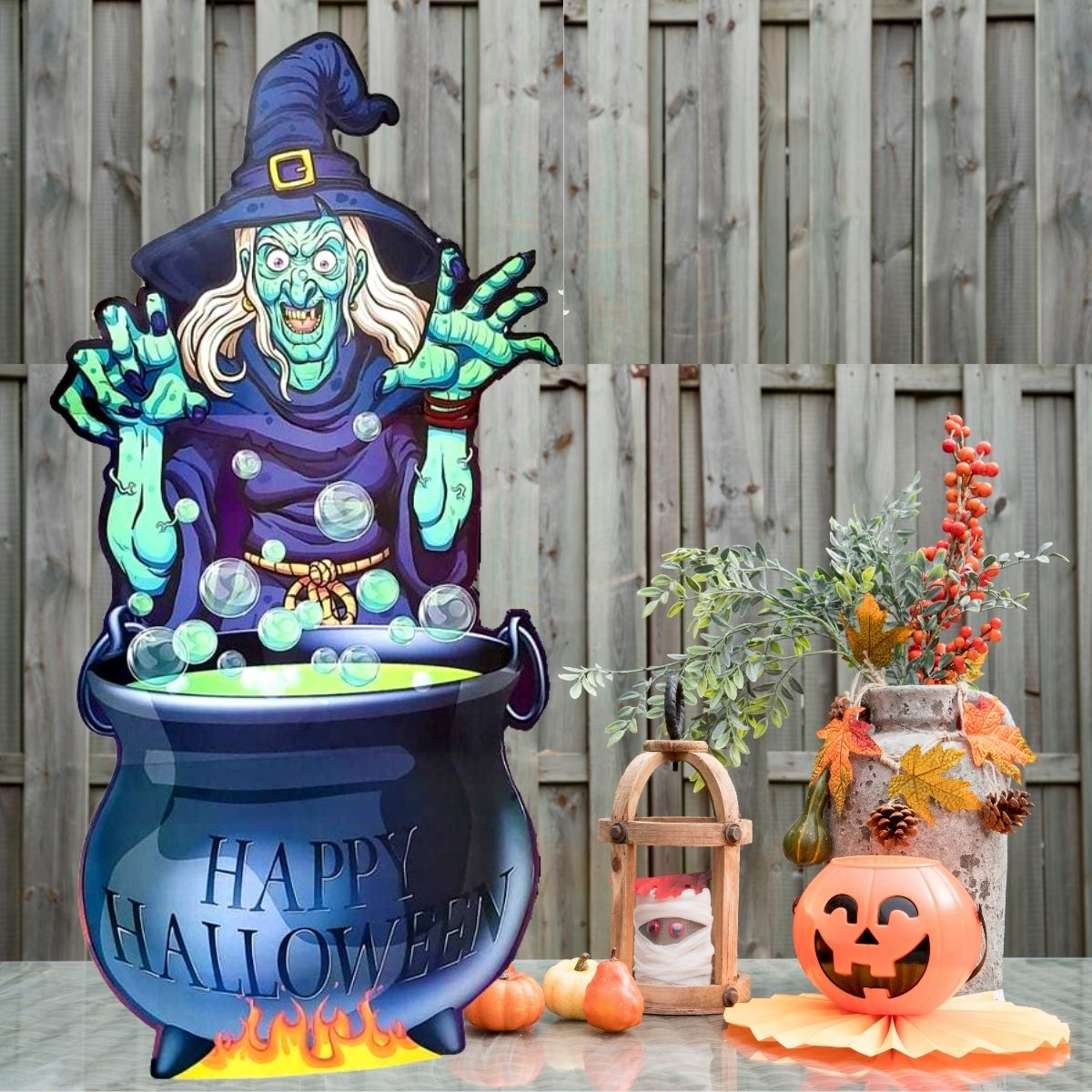 Totem Halloween Bruxa 1,46mx70cm