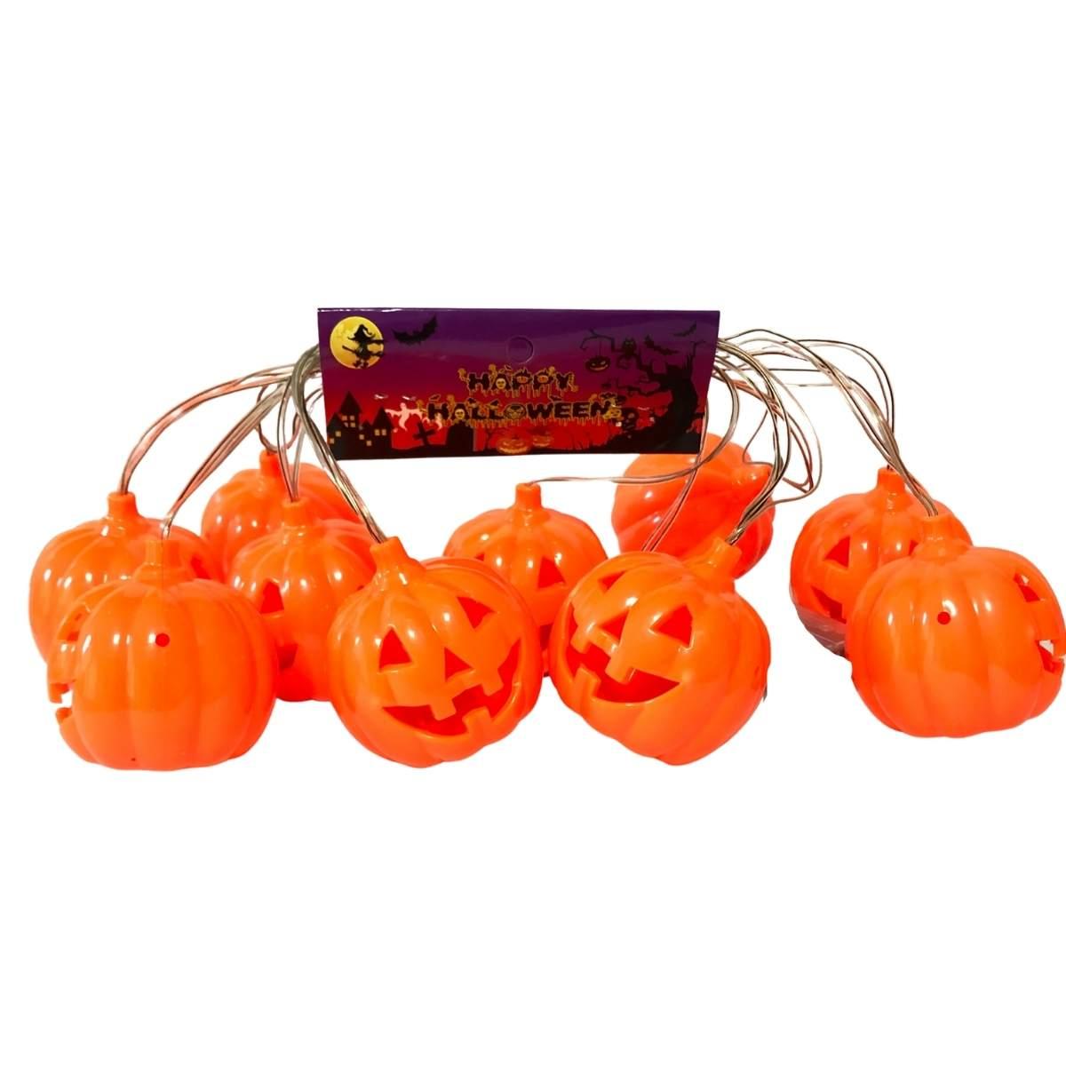 Varal Abóboras Led Halloween 3m