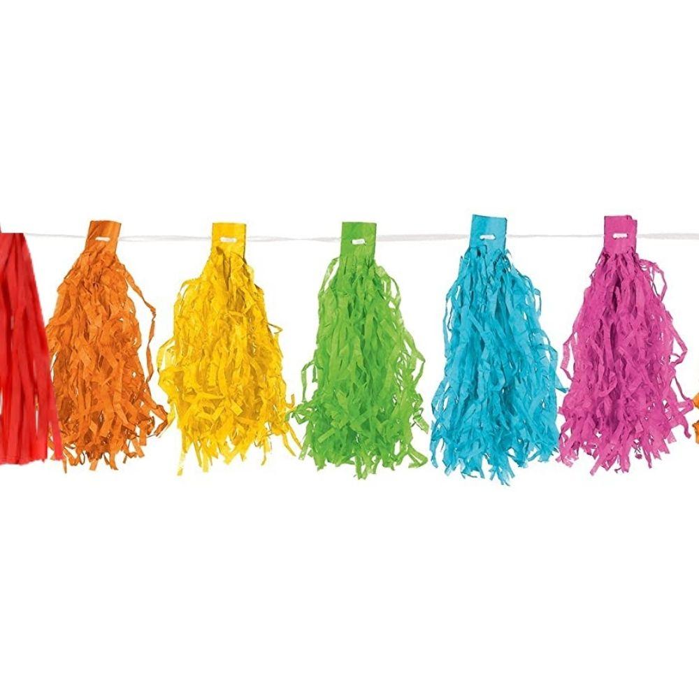 Varal Decorativo Pompom Colorido c/4 metros