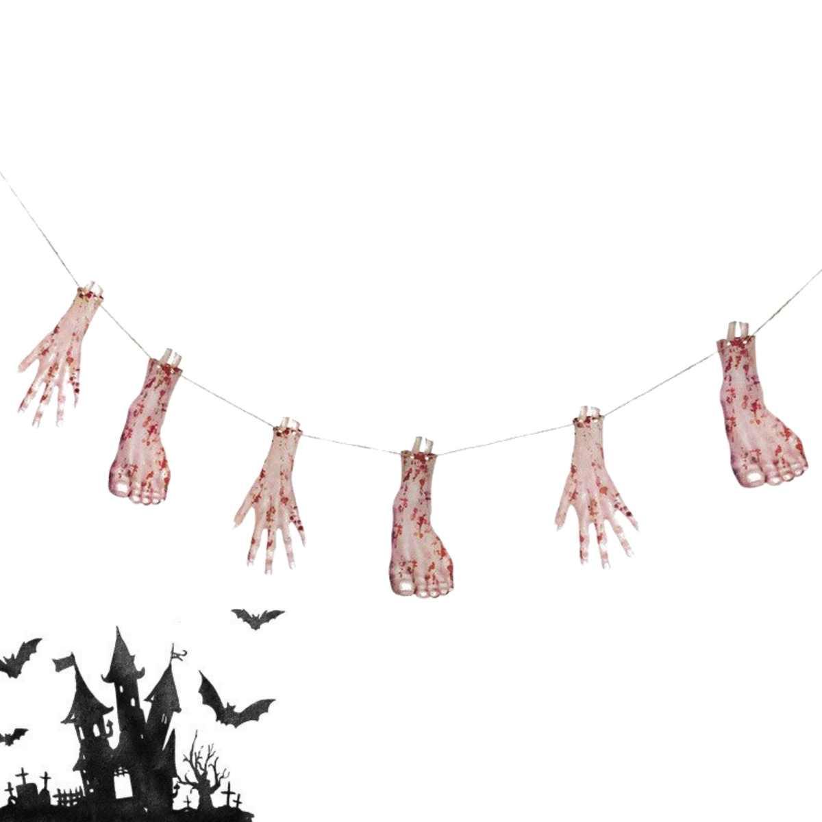 Varal Mãos e Pés Halloween 2,4m
