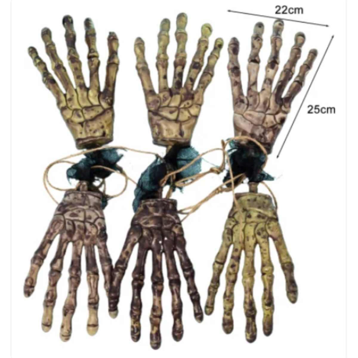 Varal Mãos Esqueleto 1,45m
