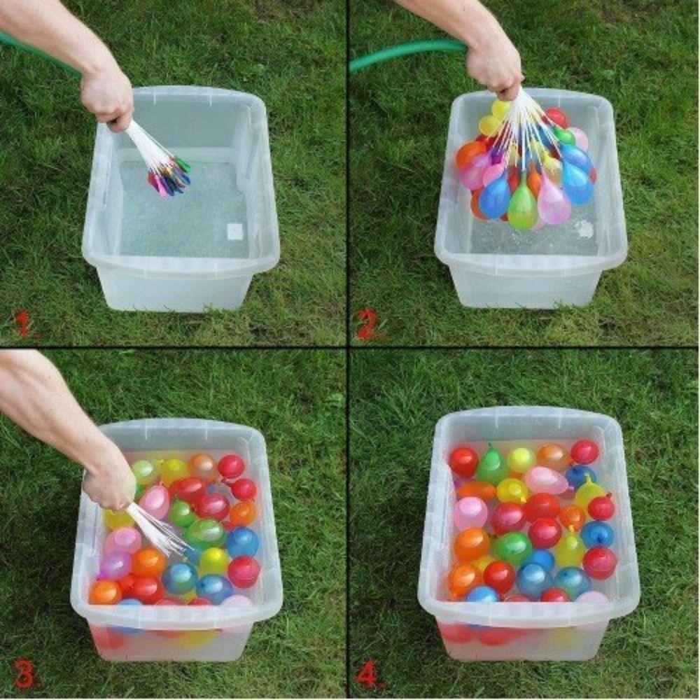 Water Ballon c/ 37 Mini Balões Kit c/3