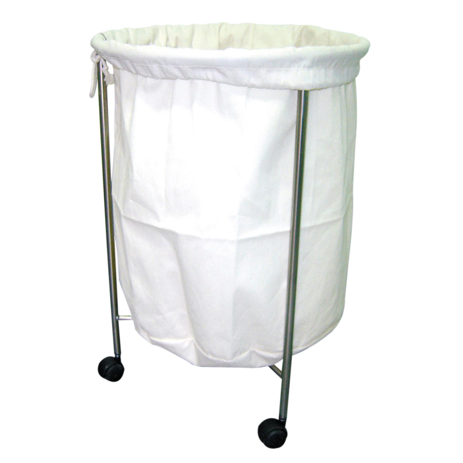 Coletor de roupas (hamper) inox com saco