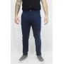 Calça Alfaiataria de Sarja Slim Lisa com Elastano Masculina - Azul Marinho