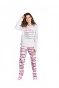 Pijama Feminino Mãe e Filha - Tamanho P ao GG