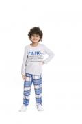 Pijama Infantil Menino Pai e Filho - Tamanho 4 ao 10