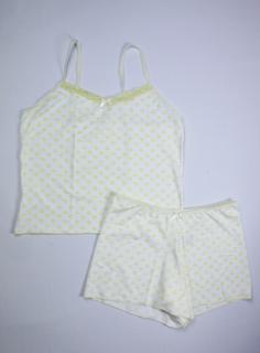 Baby Doll Feminino - Amarelo e Branco