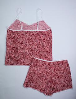 Baby Doll Feminino - Vermelho e Branco