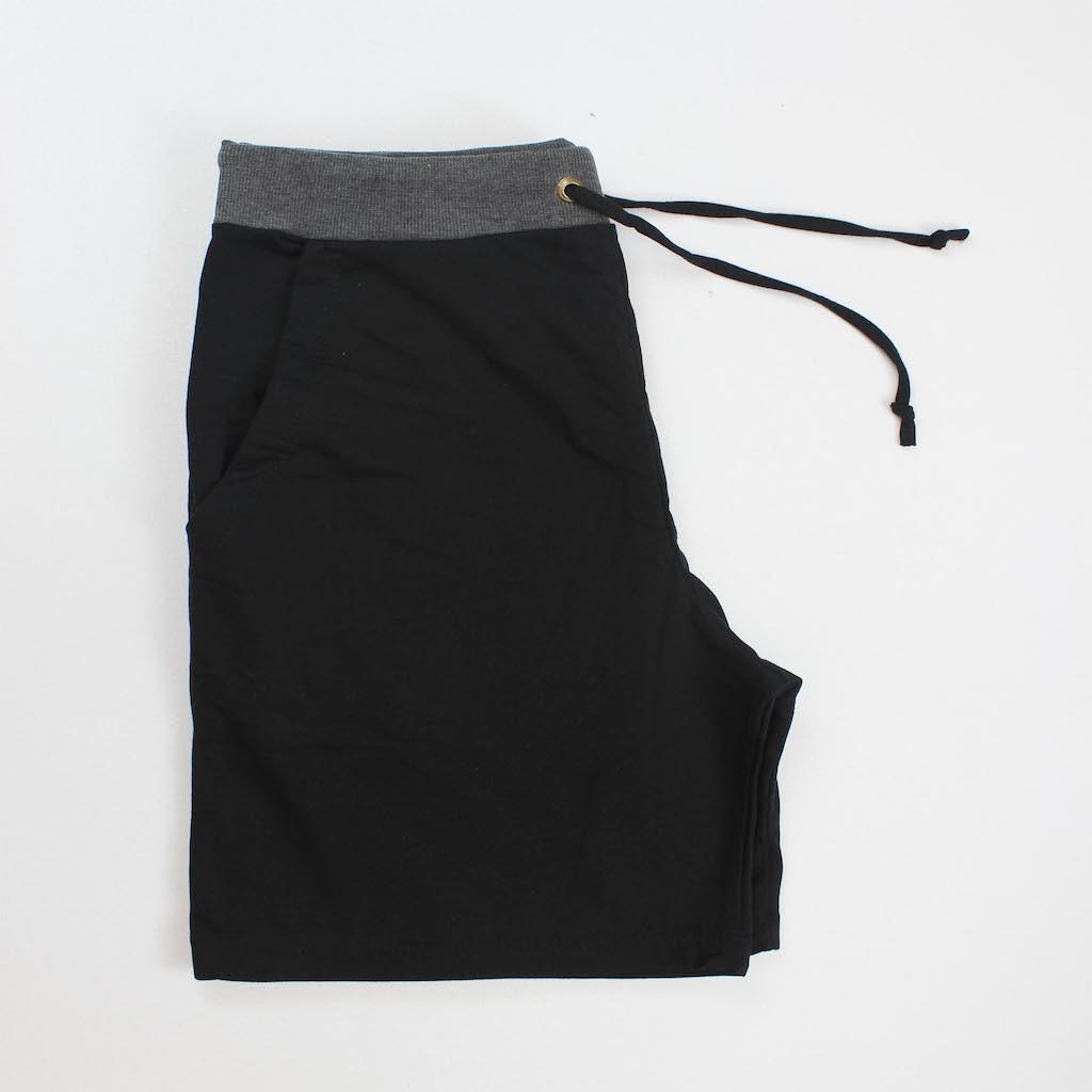 Bermuda de Abrigo Masculina - Preta Faixa Cintura