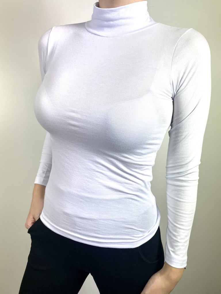 Blusa de Gola Alta Feminina - Tamanho M