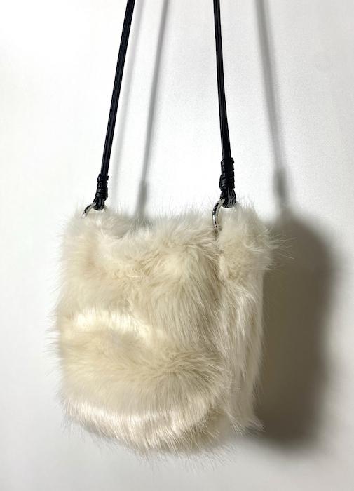 Bolsa Pelo Branca Feminina - Tamanho Único (Produto Novo)