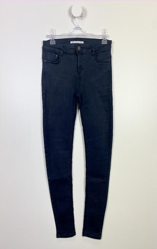 Calça Jeans Azul Escuro com Elastano Feminina - Tamanho 40