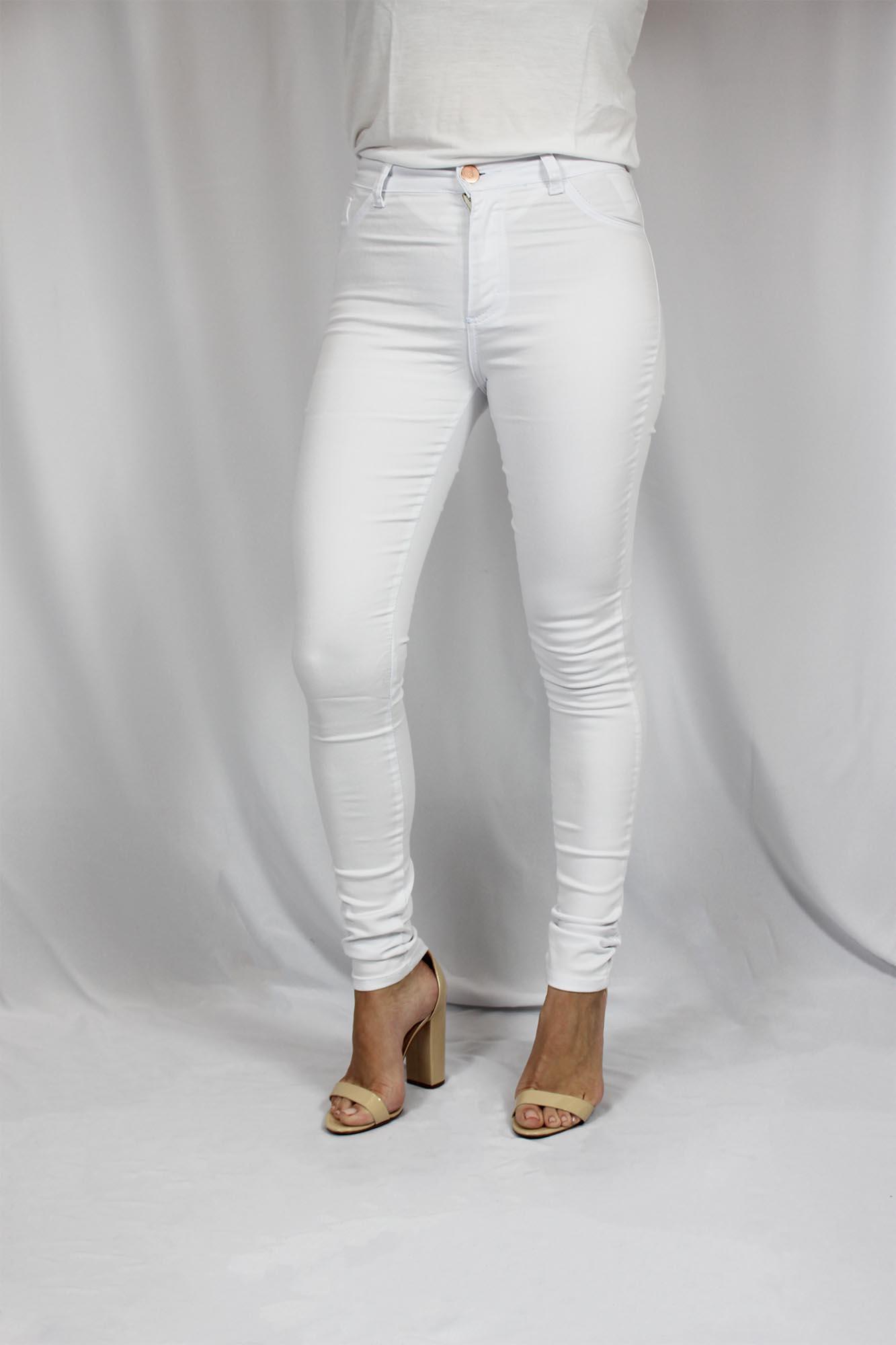 Calça Jeans Feminina - Branca