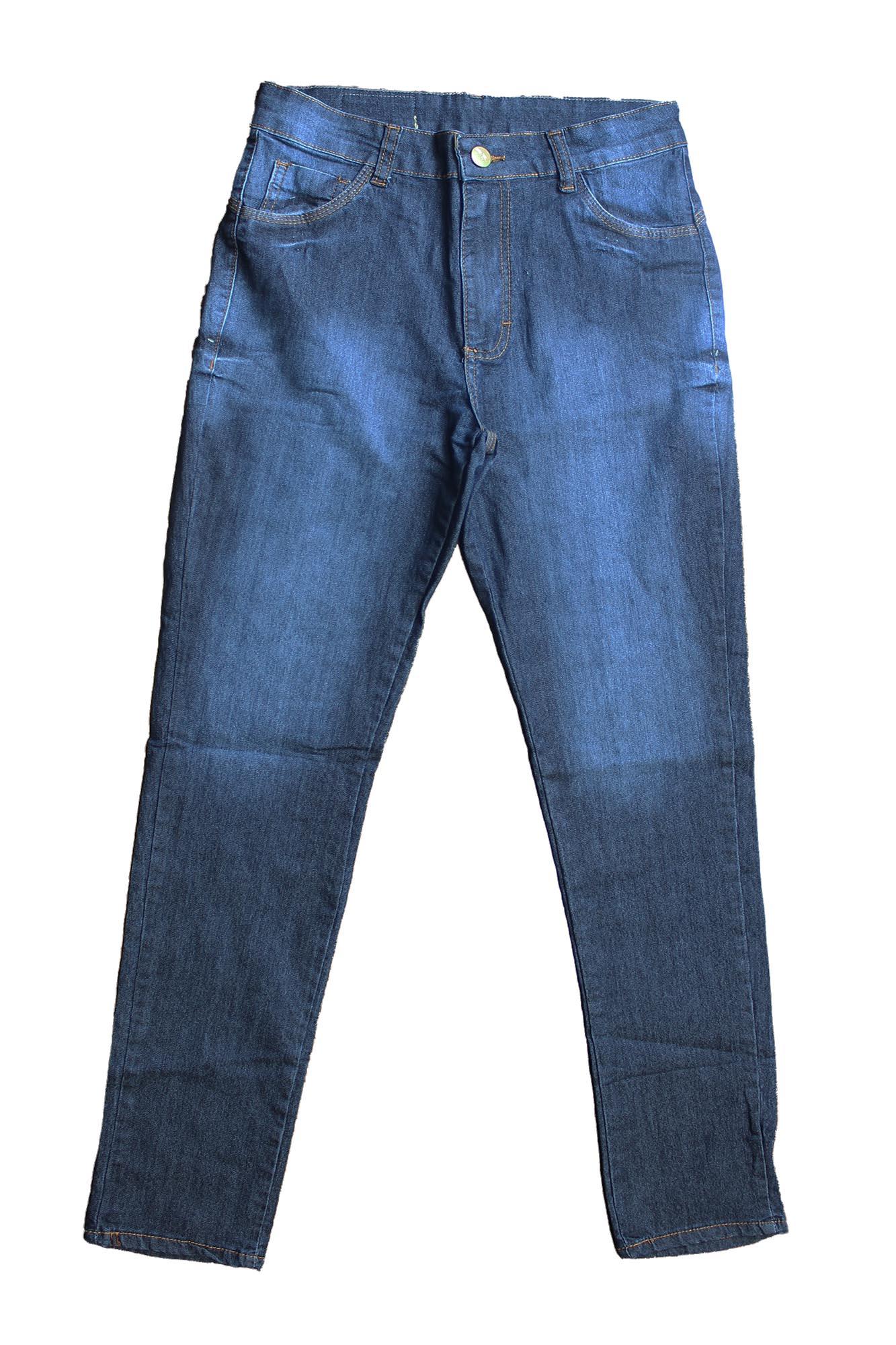 Calça Jeans Feminina Plus Size - Detalhe Perna