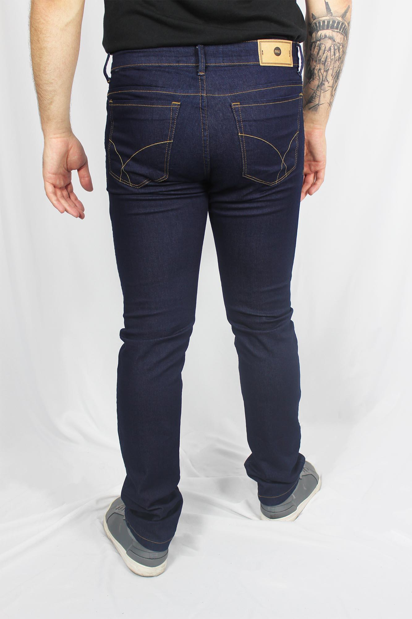 Calça Jeans Regular com Elastano Masculina - Azul Escuro