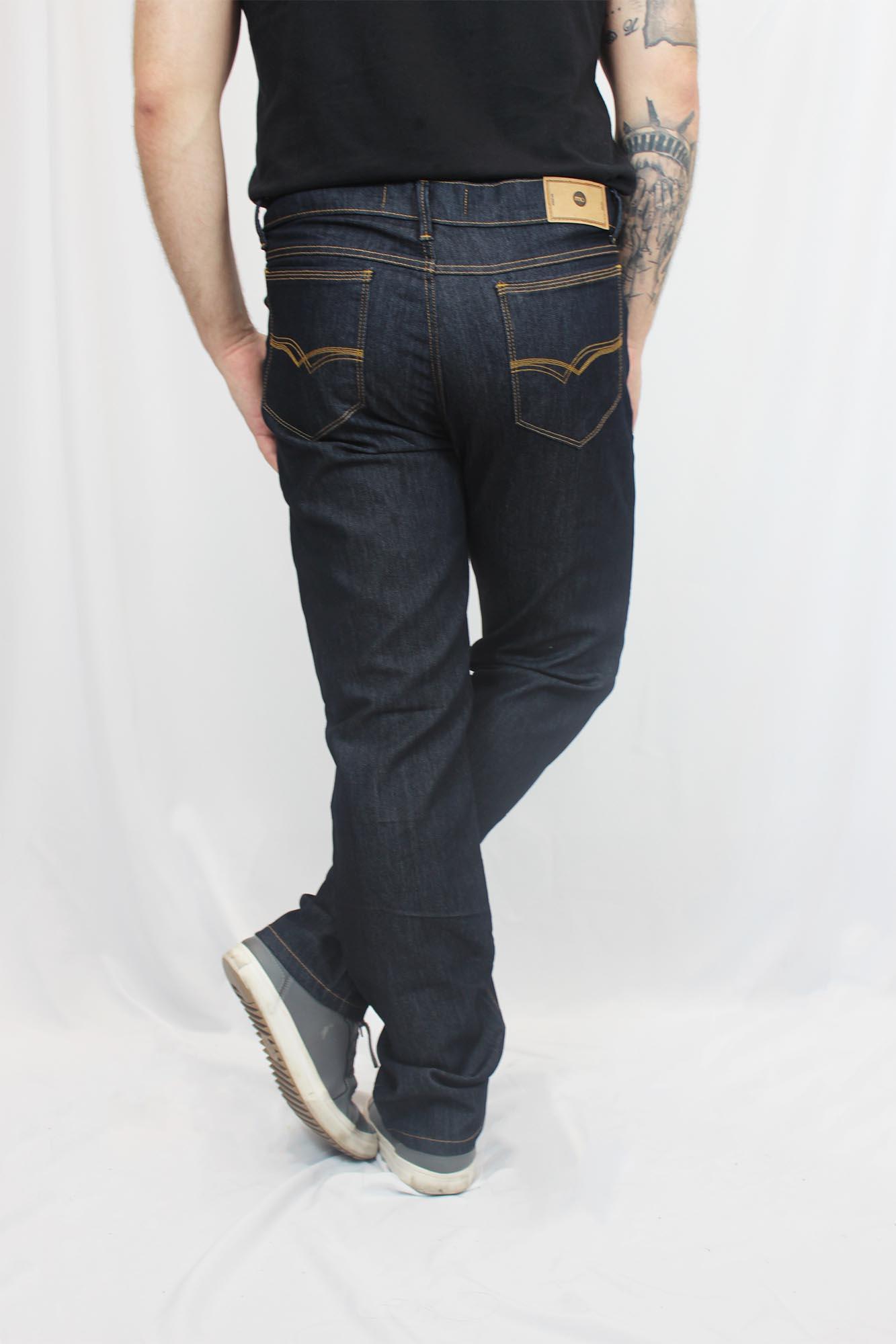 Calça Jeans com Elastano Masculina - Preta