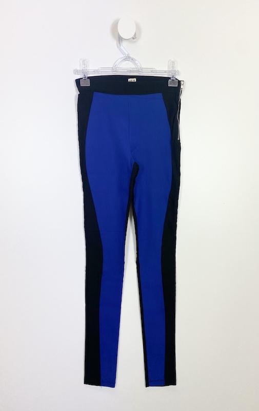 Calça Montaria Azul com Preto Feminina - Tamanho M