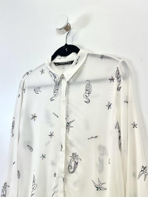 Camisa Estampada Feminina - Tamanho M (Produto Novo)